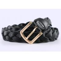 Quality Durable Braided Girls Leather Belt In Brown Color And Black Color High Fashion for sale