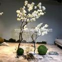 Fashion Vase Cherry Artificial Blossom Tree Sakura Flower Patio Decoration for sale