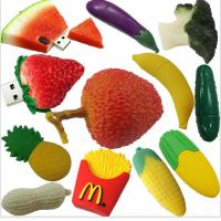 Buy cheap customized Fruit and food design USB Flashdrives,2-32GB Soft PVC fruit shaped usb flash drive gift product