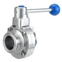 Quality Sanitary Butterfly Valve with weld for sale