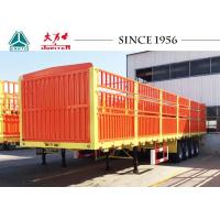 Quality 40FT 4 Axles Fence Trailer , High Side Wall Cargo Trailer 12R22.5 Tires for sale