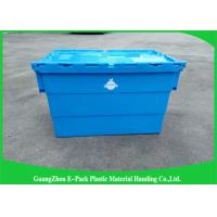 Quality Packaging Distribution Totes With Hinged Lid , Logistic Big Plastic Containers for sale