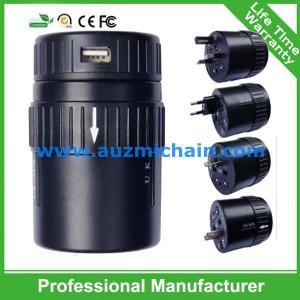 Quality Dual usb universal travel adapter ac  adapter with USA Australia Europe UK worldwide plugs for sale