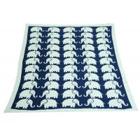 Quality Elephant Pattern Knitted Knitted Wool Blanket For Home Decoration for sale