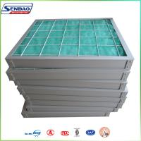 Quality HVAC System Media Air Filter Fiberglass Fiber Pleated Panel 5um for sale