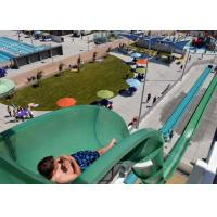 Quality Safe Big Water Slides / Swimming Pool Tube Slides For Water Playground Equipment for sale