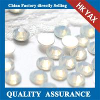 China white opal crystal stone non hot fix on sale