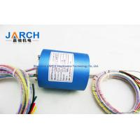 Aluminium 300RPM Electrical Contacts Of Through Bore Slip Ring 2 ~ 36 Circuits ID25.4mm