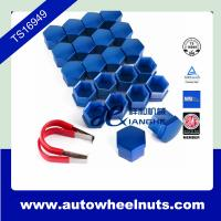 Quality Universal 17mm Car Wheel Nut Cover Bolt Cap x 20 pcs Blue with Removal Tool for sale