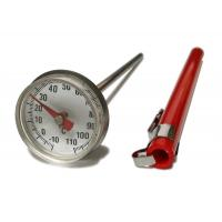 Quality Stainless Small Dial Pocket Milk Frothing Thermometer With Magnifying Lens for sale