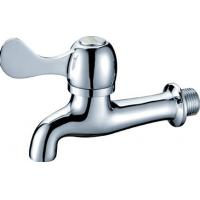 Quality Wall Mounted Brass CE Single Hole Washer Taps with Flat Handle Switch HN-5F06 for sale
