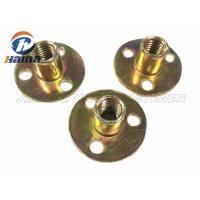 Buy cheap Zinc plated Round Base T Nut With Three Brad Hole , Tee Nuts Or Furniture Nut product