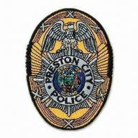 Quality Police Embroidered Patch, Hot on Border Patches, Iron on Backing, Various Sizes Available for sale