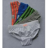 Buy cheap Eco Friendly Polyester / Cotton Stripe Organic Kids Underwear for Boys product