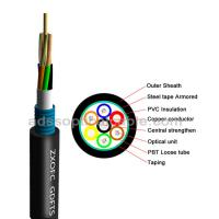 Quality GDTS Hybrid Fiber Optic Cable Ultraviolet Prevention With Steel Tape for sale