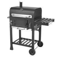 Quality Classic Commercial Kitchen Equipments Barbeque Backyard Charcoal BBQ Grill Smoker With Trolley for sale