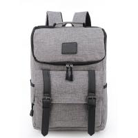 Portable Laptop Travel Bag , Grey Computer Bag Backpack Style 32*43*17 Cm