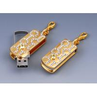 Buy cheap Jewelry Gift Usb 2.0 Flash Drives in Metal & Crystal wiht 512M,1G, 2G, 4G product