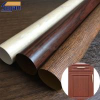 Quality Vacuum Membrane Press High Gloss PVC Sheet For Doors / Wood Texture Pattern for sale