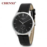Quality 062A Top Quality PU Leather Split Leather Watch Black White Classic Fashion Leather Watch for sale
