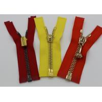 Quality Gold Teeth Open End 36 Inch Metal Separating Zipper Semi - Auto Lock For Canvas for sale