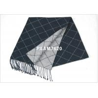 China Dark Gray Mens 100% Woven Silk Scarf With Winter / Autumn on sale