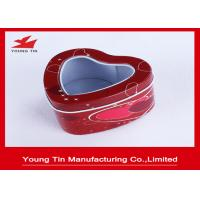 China Wedding Candy Packaging Heart Shaped Tin Box on sale