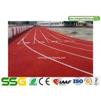 Quality Eco - friendly Durable Synthetic Athletic Track Red / Blue / Green Colour SGS ISO for sale