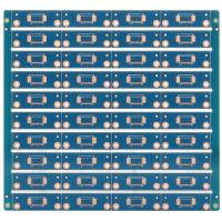 China 4 layers PCB with blue soldermask on sale