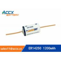 Quality ER14250 with tabs, axis, 3.6V 1200mAh lithium thionyl chloride battery for sale