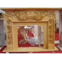 Quality Beige marble fireplace mantel for sale