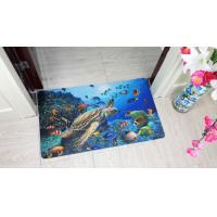 China Washable Softness Rubber Floor Carpet Rectangular With Flower Pattern on sale