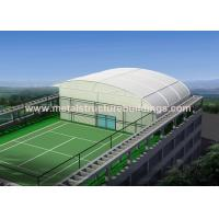 Quality High Strength Steel Frame Structure With Aluminum Roll Up Door , PVC Pipe Rain Spout for sale