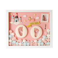 Quality Pine Wood Baby Memory Box , Permanent Diy Hand And Foot Print Mud / Baby Hair Souvenir for sale