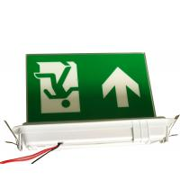 Quality Ceiling Recessed Emergency Led Exit Signs with Ni-Cd battery 3.6V1.8Ah for sale