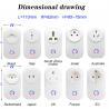 Buy cheap Tuya WIFI Smart Socket Smart Plug EU UK Swit AU BR FR JP Israel Ita ZA Plug 10A from wholesalers