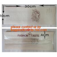 Quality OEM High Quality Enviromental Clear Window Bread Toast Paper Bags, Brown Kraft Sharp Bottom Food Safe Snack Paper Bags for sale