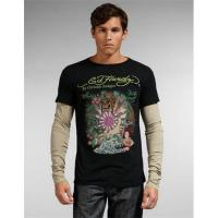 """Buy cheap Men's Ed Hardy """"Kamikaze"""" Multiprint Specialty Double Sleeve Tee from wholesalers"""