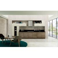 Modern Kitchen Cabinets Wood Grain with wall glass