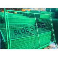 Quality Highways Green Metal Fencing , High Strength Welded Galvanised Mesh Fencing for sale