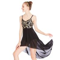 Quality MiDee Elegant Cami Flora Sequins Lyrical Costumes Dance Dress Gentle High-Low Skirt Competition Performance Stage Wear for sale