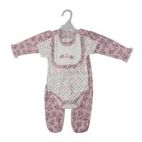 Quality Breathable Baby Clothes Gift 3 Piece Newborn Outfits Heat Transfer 3D Printing for sale