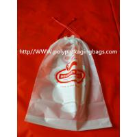 Quality Moisture Resistant Drawstring Plastic Bags / Drawstring Storage Bags for sale