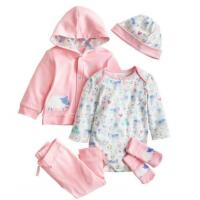 China Pink Infant Baby Clothes Girls 5 Piece Baby Gift Set Breathable Eco Friendly on sale