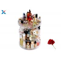 Quality 360 Degree Rotating Acrylic Cosmetic Makeup Box Storage Organizer Color Customized for sale
