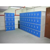 Quality Highly Water Resistant Red Shoe Storage Locker Gray Body 4 Comparts per Column for sale