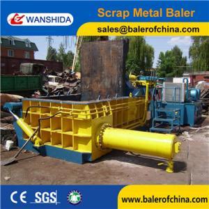 China WANSHIDA Scrap Steel HMS Baling Press Compactor Baler Export to USA on sale