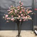 Contom Interior Artificial Rose Flower Tree For Wedding Home Decoration for sale