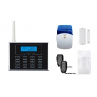 Quality Dual Network GSM PSTN Alarm System with touch keypad and wireless doorbell for sale