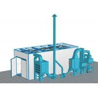 China Large Parts Industrial Blasting Cabinet Corrosion Inhibitor With 2 Spray Guns on sale